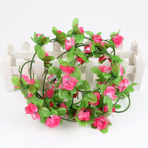 Silk Roses Artificial Hydrangea Wisteria Rattan Strip Artificial Vine For Wedding Home Party Kid Room Decoration Craft Supplies