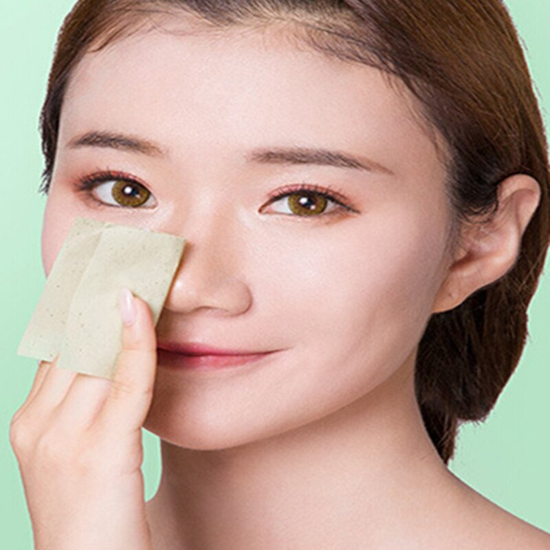 100 Sheets/pack Tissue Papers Green Tea Smell Makeup Cleansing Oil Absorbing Face Paper Absorb Blotting Facial Cleanser Tool