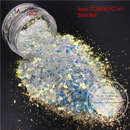 TCT-052 Christmas Snow Season Series 12 Kinds White Colors Gliiter Spangles for Nail art Decoration Body paint DIY Decoration