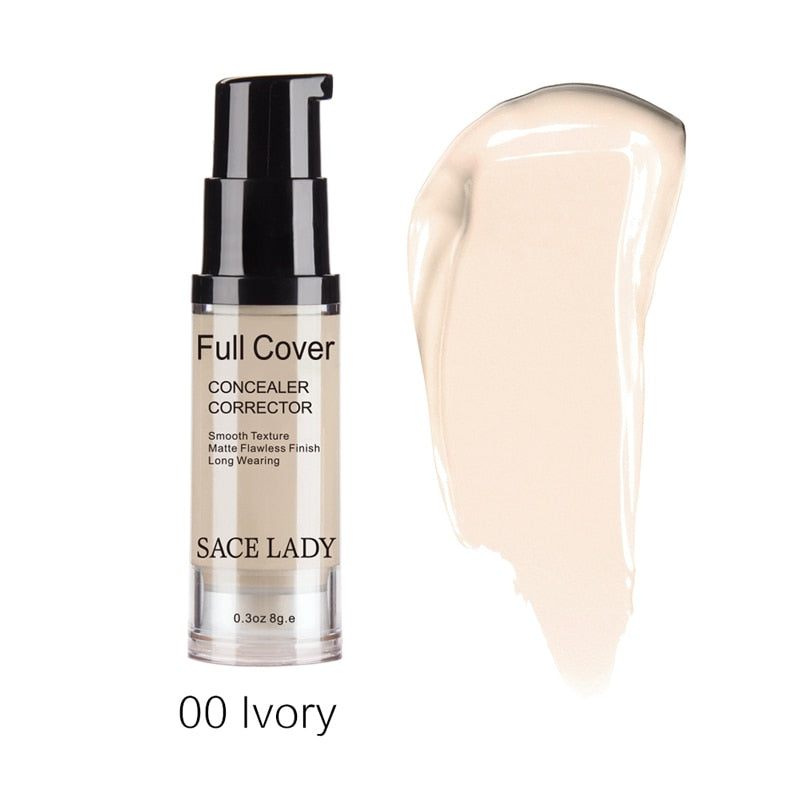 SACE LADY Full Cover Liquid Concealer Makeup Eye Dark Circle Cream Face Corrector Waterproof Base Make Up 6ml Cosmetic Wholesale