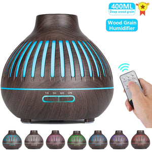 Humidifier Electric Aroma Air Diffuser Xaomi Wood Grain Ultrasonic Air Humidifier Essential Oil Aromatherapy Mist Maker Home
