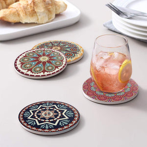 Absorbent Coaster Sets Natural Coaster Heat Resistant Cup Mug Mat Heat-resistant Tea Coffee Mug Drink Pad For Kitchen Decoratio