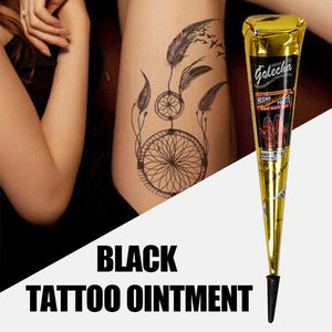 1 Pcs Tattoo Painting Cream Henna Tattoo Cream Natural Herbal Temporary Waterproof Tattoo Black Body Painting Ink