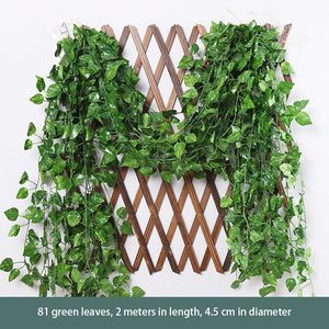 1 Pcs Green Flower Vine Sweet Potato Vine Green Leaf Vine Artificial Flower Air Conditioning Loft Fence Winding Green Leaf