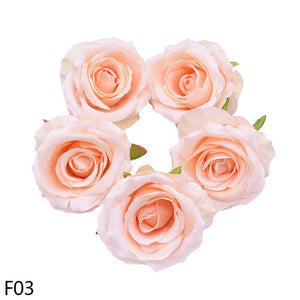 5/10pcs Quality 10CM Silk Rose Artificial Flower Heads For Wedding Party Home DIY Wreath Gift Decor Scrapbooking Fake Fleurs
