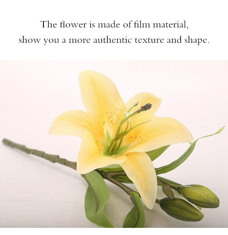 Home Decoration Artificial Lily Flower Bouquet Fake Flowers Bridal Flower Home Wedding Photographic Decoration