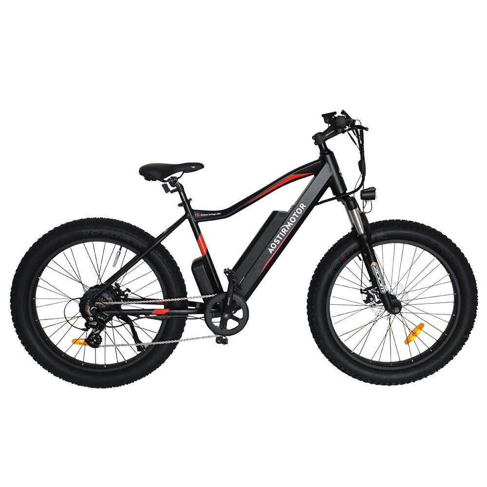 Electric Bike Fat Tire Electric Mountain Bicycle Beach Cruiser Bike Booster Ebike 750W 48V 10.4Ah Lithium Battery