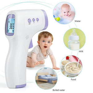 Non-Contact Infrared Laser Thermometer for Adult Child Digital Infrared Temperature Monitor Alarm Temperature with LCD Display
