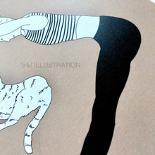 "Load image into Gallery viewer, Art Print ""Cat Yoga"" - tinkl ILLUSTRATION"