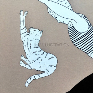 "Art Print ""Cat Yoga"" - tinkl ILLUSTRATION"