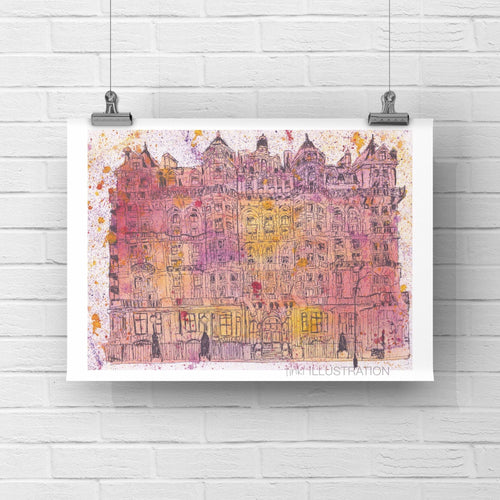 "Art Print ""Mandarin Oriental, London"" - tinkl ILLUSTRATION"