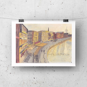 "Art Print ""Münster Hafen"" - tinkl ILLUSTRATION"