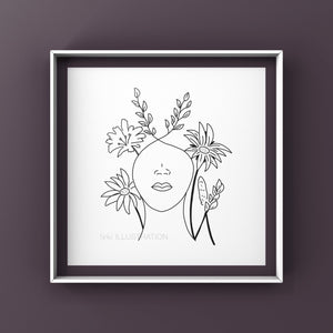 "Art Print ""One with Nature"" - tinkl ILLUSTRATION"
