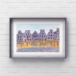 "Art Print ""Prinzipalmarkt Münster"" - tinkl ILLUSTRATION"