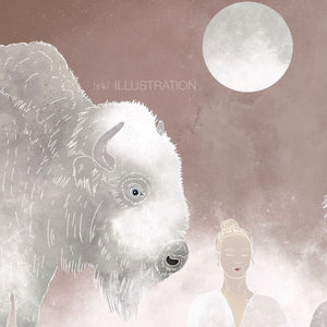 "Art Print ""Spirit Animals & Soul Flowers"" - tinkl ILLUSTRATION"