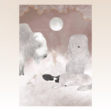 "Load image into Gallery viewer, Art Print ""Spirit Animals & Soul Flowers"" - tinkl ILLUSTRATION"