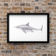 "Load image into Gallery viewer, Art Print ""Touch da Fishy"" in Aid of Sea Shepherd - tinkl ILLUSTRATION"