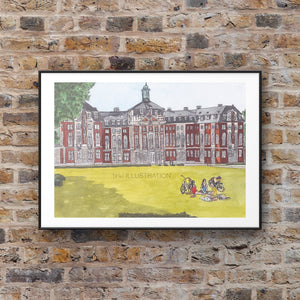 "Art Print ""Westfälische Wilhelms-Universität Münster"" - tinkl ILLUSTRATION"