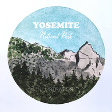"Load image into Gallery viewer, Art Print ""Yosemite National Park 2/7"" - tinkl ILLUSTRATION"