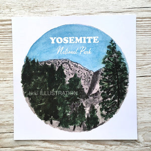 "Art Print ""Yosemite National Park 3/7"" - tinkl ILLUSTRATION"