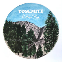 "Load image into Gallery viewer, Art Print ""Yosemite National Park 3/7"" - tinkl ILLUSTRATION"
