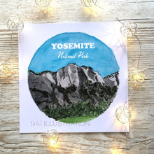 "Load image into Gallery viewer, Art Print ""Yosemite National Park 4/7"" - tinkl ILLUSTRATION"
