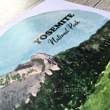 "Load image into Gallery viewer, Art Print ""Yosemite National Park 7/7"" - tinkl ILLUSTRATION"