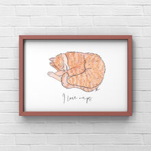 "Load image into Gallery viewer, Cat Art Print ""I Love Naps"" - tinkl ILLUSTRATION"