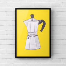 "Load image into Gallery viewer, Coffee Art Print ""Moka Pot"" - tinkl ILLUSTRATION"
