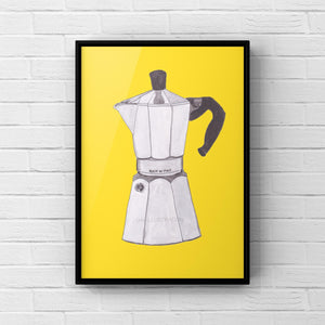 "Coffee Art Print ""Moka Pot"" - tinkl ILLUSTRATION"
