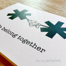 "Load image into Gallery viewer, Greeting Card ""Asterisks"" for Grammar Nerds - tinkl ILLUSTRATION"