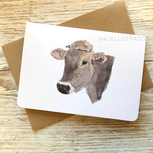 "Greeting Card ""Swiss Cow"" - tinkl ILLUSTRATION"