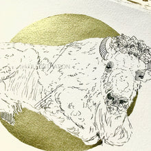 "Load image into Gallery viewer, Original Artwork ""Bison Queen"" in Aid of Lighthouse Farm Sanctuary - tinkl ILLUSTRATION"