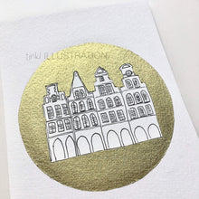 "Load image into Gallery viewer, Original Artwork ""Golden Münster – Prinzipalmarkt"" - tinkl ILLUSTRATION"