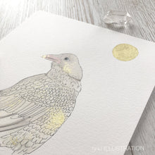 "Load image into Gallery viewer, Original Artwork ""Moon Raven"" of a White Raven - tinkl ILLUSTRATION"