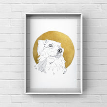 "Load image into Gallery viewer, Pet Portrait ""Golden Magic"" - tinkl ILLUSTRATION"