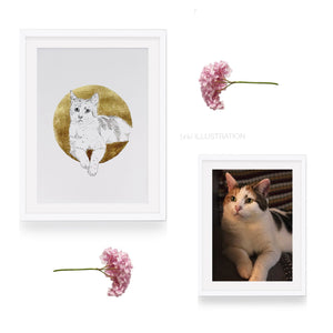 "Pet Portrait ""Golden Magic"" - tinkl ILLUSTRATION"