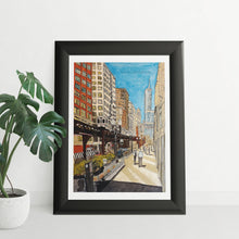 Load image into Gallery viewer, Watercolour City Illustration - tinkl ILLUSTRATION