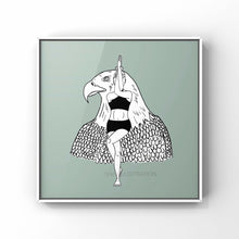"Load image into Gallery viewer, Yoga Art Print ""Eagle Pose"" - tinkl ILLUSTRATION"