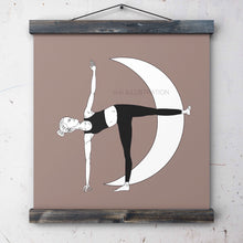 "Load image into Gallery viewer, Yoga Art Print ""Half Moon Pose"" - tinkl ILLUSTRATION"