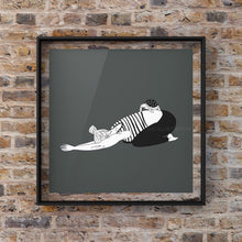 "Load image into Gallery viewer, Yoga Art Print ""Half Tortoise Pose"" - tinkl ILLUSTRATION"