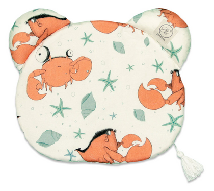 Crab Pattern Bamboo Pillow Toy | CC-PM-R