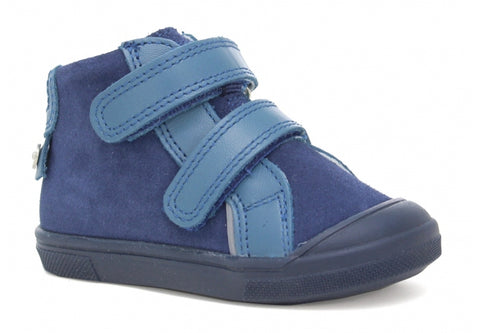 Blue Leather High-Top Sneakers | 1384-2KC