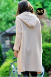 Dusty Pink Hooded Cardigan | HONEY