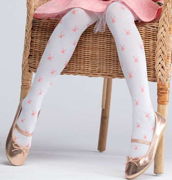 White 40 Denier Tights | RA-80 MF