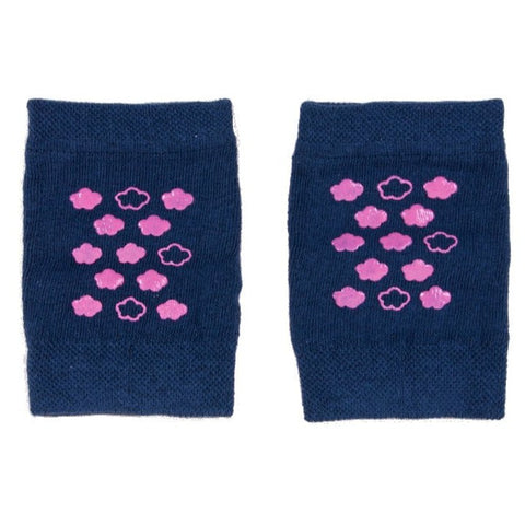Navy Blue and Pink Baby Crawling Knee Pads ABS | NA-02-NB