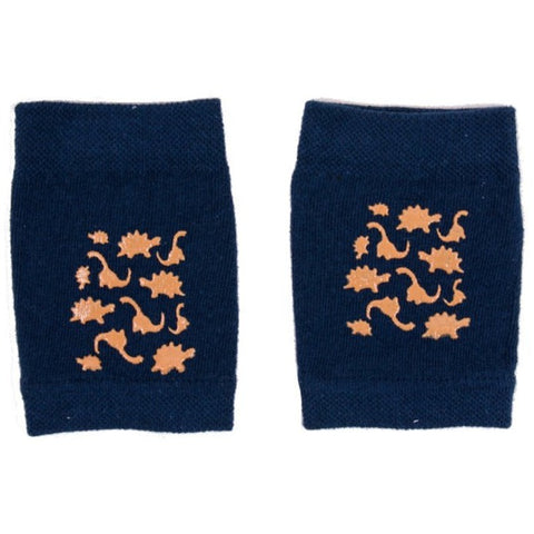 Navy Blue and Light Brown Baby Crawling Knee Pads ABS | NA-02-DB