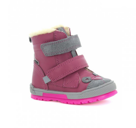 Pink Leather Snow Boots | 61041-WLAD