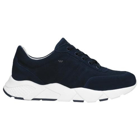 Navy Blue Leather Sneakers | 4601526