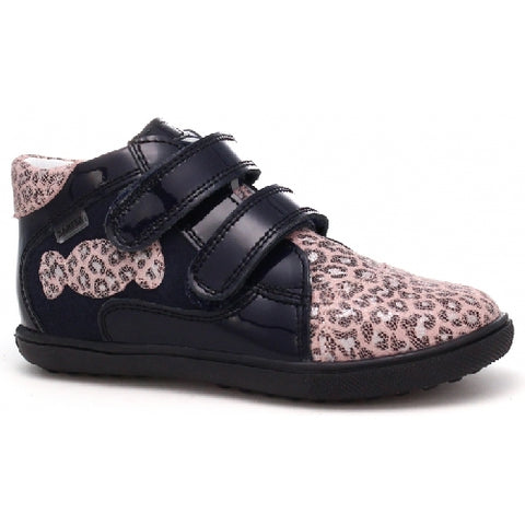 Black and Pink Leopard Leather Sneakers | 11703-0-91E